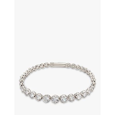 Ivory & Co. Limelight Graduating Cubic Zirconia Tennis Bracelet, Silver