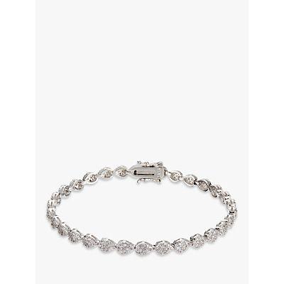 Ivory & Co. Aria Teardrop Cubic Zirconia Pave Tennis Bracelet, Silver