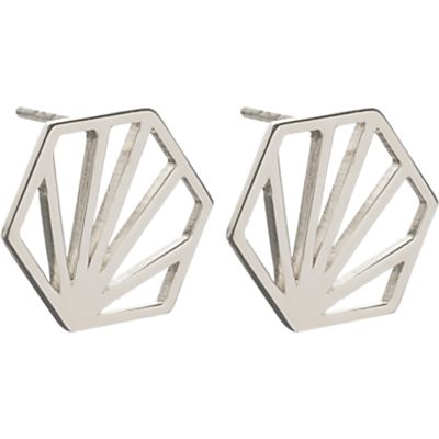 Rachel Jackson London Large Open Hexagon Stud Earrings