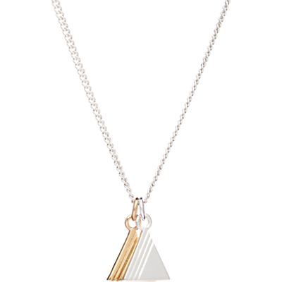Rachel Jackson London Double Triangle Pendant Necklace, Gold/Silver