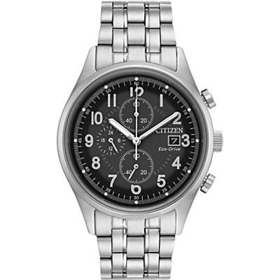 Citizen CA0620-59H Men's Chronograph Date Bracelet Strap Watch, Silver/Black