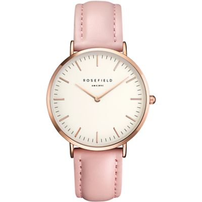 ROSEFIELD Women's The Bowery Leather Strap Watch