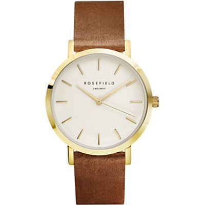 ROSEFIELD Women's The Gramercy Leather Strap Watch