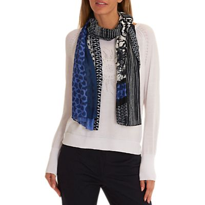 Betty Barclay Multi-Print Viscose Scarf, Blue