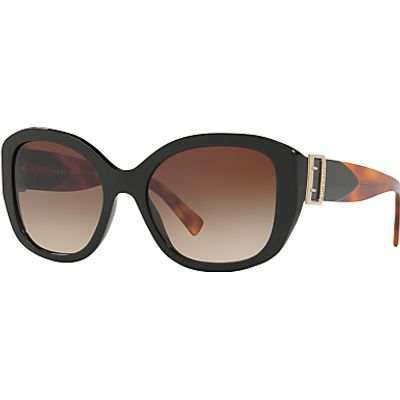 Burberry BE4248 Square Sunglasses, Black/Brown Gradient