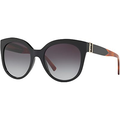 Burberry BE4243 Cat's Eye Sunglasses, Matte Black/Grey Gradient