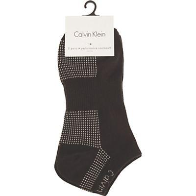 Calvin Klein Performance Coolmax Trainer Socks, Pack of 2, Navy/White