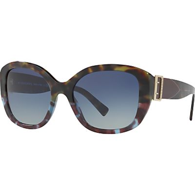 Burberry BE4248 Square Sunglasses, Tortoise/Blue Gradient