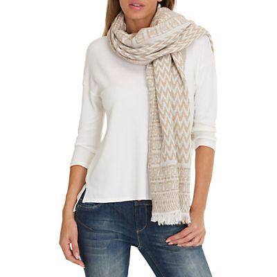 Betty Barclay Zig Zag Scarf, Taupe/White