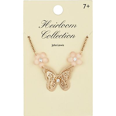John Lewis Heirloom Collection Butterfly Necklace, Gold