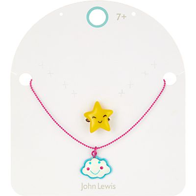 John Lewis Girls' Cloud Necklace and Star Ring Set