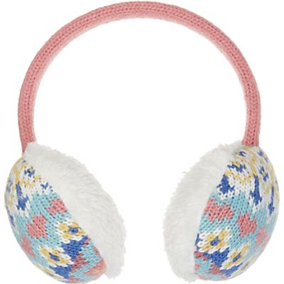 John Lewis Children's Pretty Fair Isle Ear Muffs, Multi