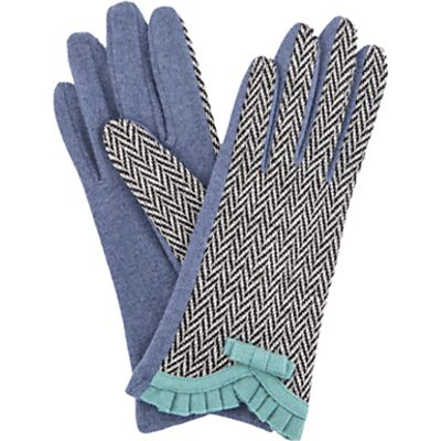 Powder Victoria Wool Blend Gloves, Navy