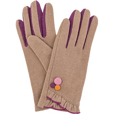 Powder Isabela Wool Blend Gloves, Camel