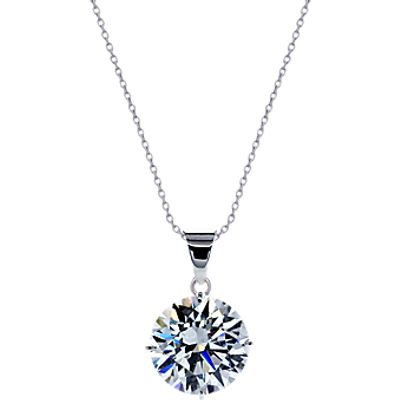 CARAT* London 9ct White Gold Round Pendant Necklace