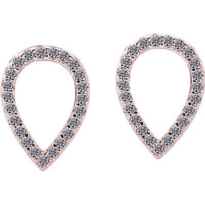 CARAT* London Minoan Serpentine Stud Earrings, Rose Gold