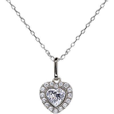 CARAT* London Amara Heart Pendant Necklace, Silver