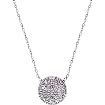 CARAT* London Pave Round Pendant Necklace