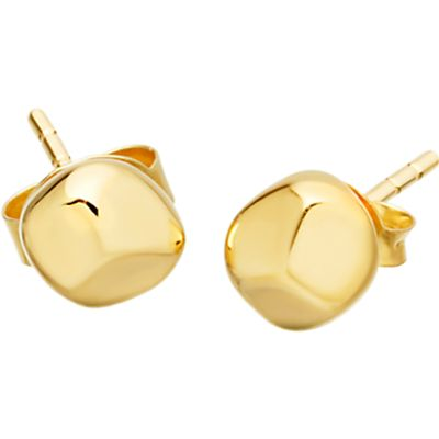 Missoma 18ct Gold Vermeil Magma Nugget Stud Earrings, Gold