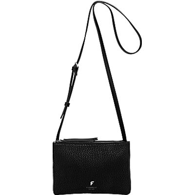Fiorelli Bunton Double Compartment Across Body Bag, Black Casual Mix