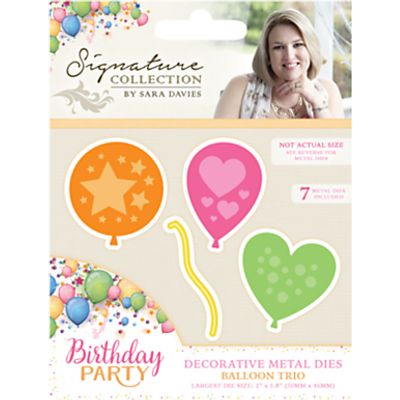 709650816435 | Crafter s Companion Birthday Balloon Metal Dies  Pack of 3 Store