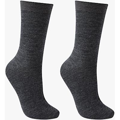 John Lewis Merino Wool Ankle Socks, Pack of 2