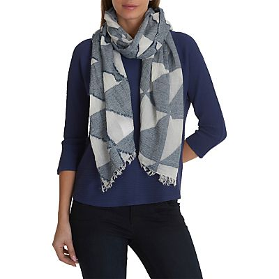Betty Barclay Textured Scarf, Classic Blue/white