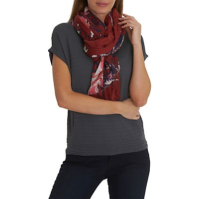 Betty & Co. Floral Print Scarf, Dark Red