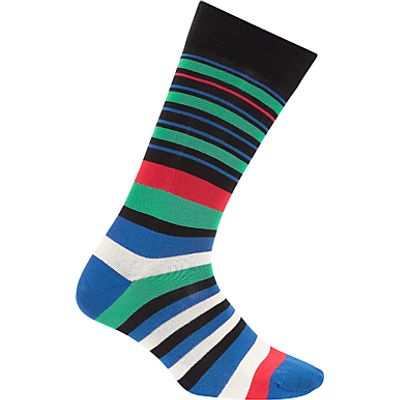 Paul Smith Barcode Stripe Socks, One Size, Multi
