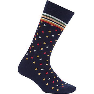 Paul Smith Mixer Dot Socks, One Size, Navy/Multi