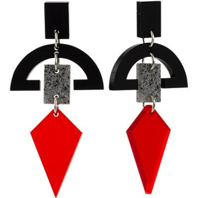 Toolally Half Moon Drop Earrings