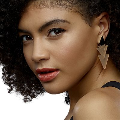 Toolally Tiered Drop Earrings, Black/Nude