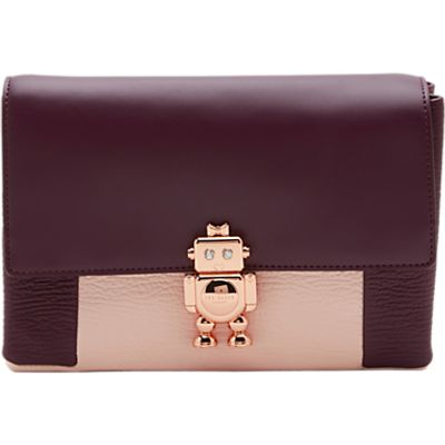 5054787636148 | Ted Baker Jemms Robot Detail Leather Cross Body Bag  Purple Store