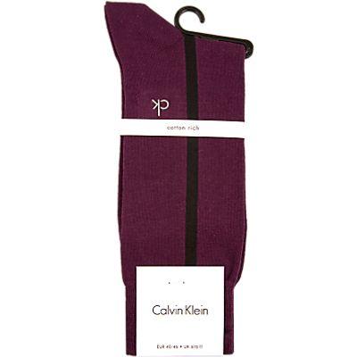 Calvin Klein Clock Stripe Socks, One Size, Wine