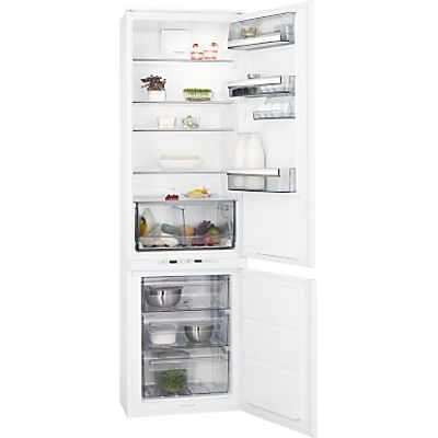 AEG SCE81921TS Integrated Fridge Freezer, A++ Energy Rating, 54cm Wide, White