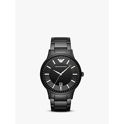 Emporio Armani AR11079 Men's Date Bracelet Strap Watch, Black