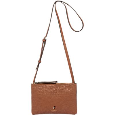 Fiorelli Bunton Double Compartment Across Body Bag, Tan Casual Mix