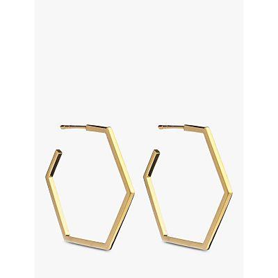 Rachel Jackson London Large Hexagon Hoop Earrings