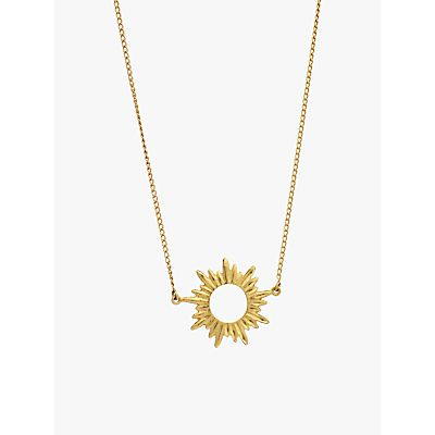 Rachel Jackson London Small Sunray Pendant Necklace