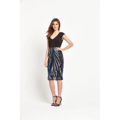 V By Very Stripe Sequin Pencil Dress