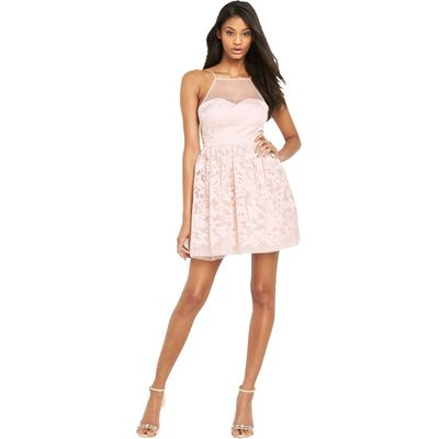 Lipsy Ariana Grande Short Mesh Top Prom Dress