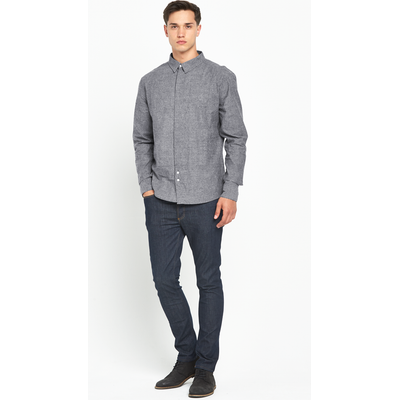 Bellfield Voltaire Chambray Long Sleeved Shirt