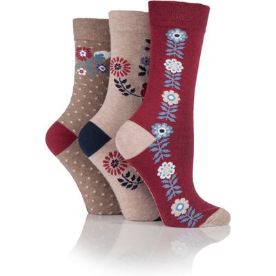 Jennifer Anderton Pack of 3 Floral Design Socks