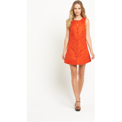 Definitions Suede Button Up Dress