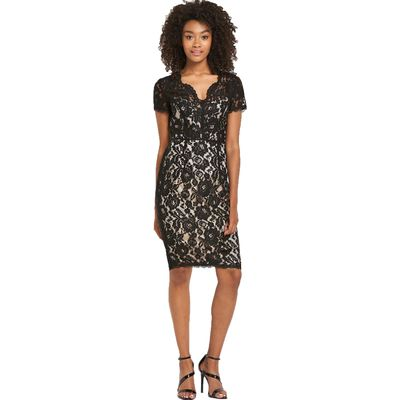 Definitions Sweetheart Neck Lace Dress