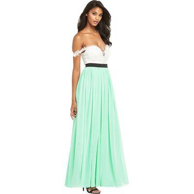 Rare Lace Off The Shoulder Top Maxi Dress