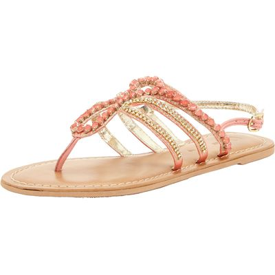 V by Very Embellished Toepost Sandals