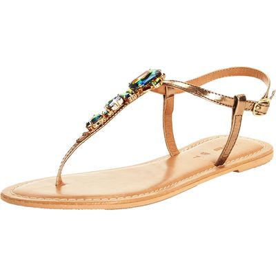 V by Very Sea Embellished Jewel Toepost Sandals