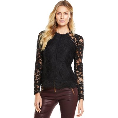 V By Very Longsleeve Lace Top