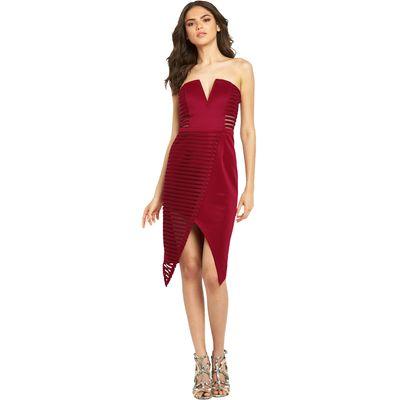 Rare Textured Mesh Bardot Dress